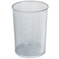 Rubbermaid WMB20 Concept Collection Silver Round Mesh Steel Wastebasket 5 Gallon (FGWMB20SLV)