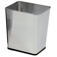 Rubbermaid WB29R Concept Collection Rectangular Stainless Steel Wastebasket 7.25 Gallon (FGWB29RSS)
