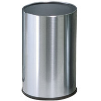 Rubbermaid UB1900 Metallic Round Satin Stainless Steel Wastebasket 5 Gallon (FGUB1900SSS)