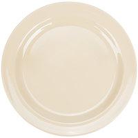 Nustone Tan 7 1/4 inch Narrow Rim Melamine Plate - 12/Pack