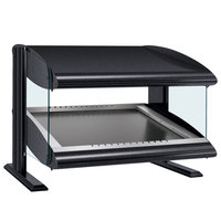 Hatco HXMS-48 Black LED 48 inch Slanted Single Shelf Merchandiser - 120V