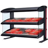 Hatco HXMH-24D LED 24 inch Horizontal Double Shelf Merchandiser - 120V