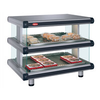 Hatco GR2SDH-30D Glo-Ray Designer 30 inch Horizontal Double Shelf Merchandiser
