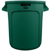 Rubbermaid BRUTE FG261000DGRN Green 10 Gallon Trash Can