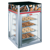 Hatco FSDT-2X Flav-R-Savor Tall Two Door Holding and Display Cabinet with Four Tier Pan Rack