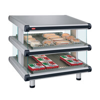 Hatco GR2SDS-48D Glo-Ray Designer 48 inch Slanted Double Shelf Merchandiser