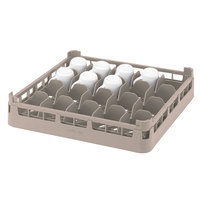 Vollrath 52674 Signature Full-Size Beige 16-Cup 2 3/4 inch Short Rack