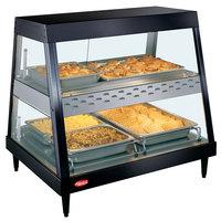 Hatco GRHD-2PD Black Stainless Steel Glo-Ray 32 1/2 inch Full Service Dual Shelf Merchandiser