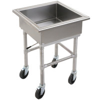Eagle Group MSS2424 Mobile Soak Sink 27 inch x 27 inch x 33 inch