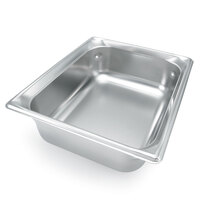 Vollrath Super Pan 3 90242 1/2 Size Anti-Jam Stainless Steel Steam Table Pan - 4 inch Deep