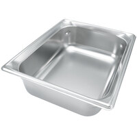 Vollrath 90242 Super Pan 3® 1/2 Size Anti-Jam Stainless Steel Steam Table Pan - 4 inch Deep