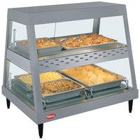 Hatco GRHD-2PD Gray Granite Stainless Steel Glo-Ray 32 1/2 inch Full Service Dual Shelf Merchandiser