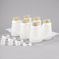 Tablecraft 482 Beige ABS Top Salad Dressing Dispenser Set