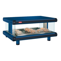 Hatco GR2SDH-24 Navy Blue Glo-Ray Designer 24 inch Horizontal Single Shelf Merchandiser - 120V
