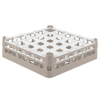 Vollrath 52710 Signature Full-Size Beige 25-Compartment 4 5/16 inch Medium Glass Rack