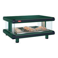 Hatco GR2SDH-24 Hunter Green Glo-Ray Designer 24 inch Horizontal Single Shelf Merchandiser - 120V