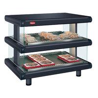 Hatco GR2SDH-54D Black Glo-Ray Designer 54 inch Horizontal Double Shelf Merchandiser