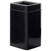Rubbermaid FG1630SQT Open-Tops Black Square Fiberglass Waste Receptacle with Rigid Plastic Liner 20 Gallon (FGFG1630SQTPLBK)