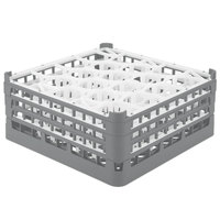 Vollrath 52706 Signature Lemon Drop Full-Size Gray 20-Compartment 7 1/8 inch X-Tall Glass Rack
