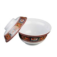 Peacock 5 1/4 inch Melamine Lid for Noodle Bowl - 12/Case