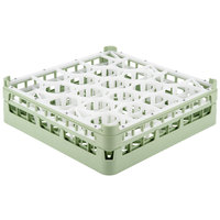 Vollrath 52702 Signature Lemon Drop Full-Size Light Green 20-Compartment 4 13/16 inch Medium Plus Glass Rack