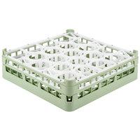 Vollrath 52702 Signature Lemon Drop Full-Size Light Green 20-Compartment 4 13/16 inch Medium Plus Glass Rack