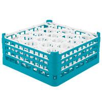 Vollrath 52707 Signature Lemon Drop Full-Size Light Blue 20-Compartment 7 11/16 inch X-Tall Plus Glass Rack