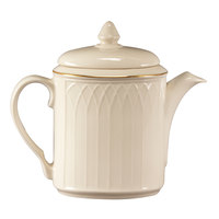 Homer Laughlin 1420-0326 Westminster Gothic 23 oz. Beverage Server with Lid - Off White 12 / Case
