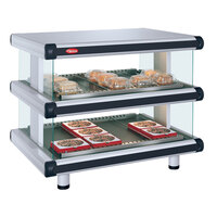 Hatco GR2SDH-36D White Granite Glo-Ray Designer 36 inch Horizontal Double Shelf Merchandiser