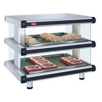 Hatco GR2SDH-48D White Granite Glo-Ray Designer 48 inch Horizontal Double Shelf Merchandiser
