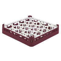 Vollrath 52691 Signature Lemon Drop Full-Size Burgundy 20-Compartment 2 13/16 inch Short Glass Rack