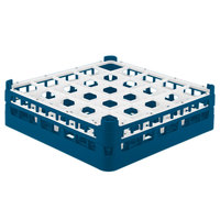 Vollrath 52710 Signature Full-Size Royal Blue 25-Compartment 4 5/16 inch Medium Glass Rack