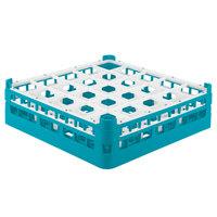 Vollrath 52710 Signature Full-Size Light Blue 25-Compartment 4 5/16 inch Medium Glass Rack