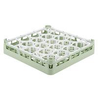 Vollrath 52692 Signature Lemon Drop Full-Size Light Green 20-Compartment 3 1/4 inch Short Plus Glass Rack