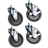 Beverage Air 00C31-049A Low Profile 2 3/4 inch Stem Casters - 4 / Set