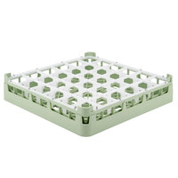 Vollrath 52689 Signature Full-Size Light Green 36-Compartment 2 13/16 inch Short Glass Rack