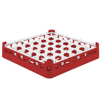 Vollrath 52689 Signature Full-Size Red 36-Compartment 2 13/16 inch Short Glass Rack