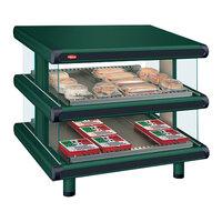 Hatco GR2SDS-36D Hunter Green Glo-Ray Designer 36 inch Slanted Double Shelf Merchandiser