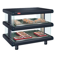 Hatco GR2SDH-48D Black Glo-Ray Designer 48 inch Horizontal Double Shelf Merchandiser
