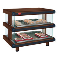 Hatco GR2SDH-24D Antique Copper Glo-Ray Designer 24 inch Horizontal Double Shelf Merchandiser - 120V