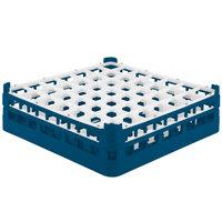 Vollrath 52722 Signature Full-Size Royal Blue 49-Compartment 4 5/16 inch Medium Glass Rack