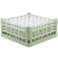 Vollrath 52724 Signature Full-Size Light Green 49-Compartment 7 1/8 inch X-Tall Glass Rack