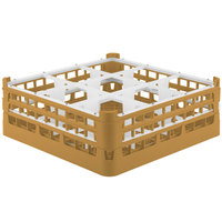 Vollrath 52728 Signature Full-Size Gold 9-Compartment 5 11/16 inch Tall Glass Rack