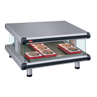 Hatco GR2SDS-54 Gray Granite Glo-Ray Designer 54 inch Slanted Single Shelf Merchandiser - 120V
