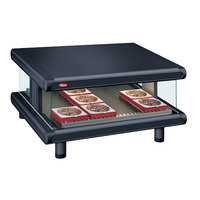Hatco GR2SDS-54 Black Glo-Ray Designer 54 inch Slanted Single Shelf Merchandiser - 120V