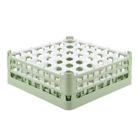 Vollrath 52715 Signature Full-Size Light Green 36-Compartment 5 11/16 inch Tall Glass Rack