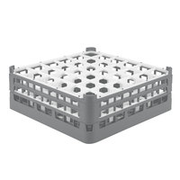 Vollrath 52715 Signature Full-Size Gray 36-Compartment 5 11/16 inch Tall Glass Rack