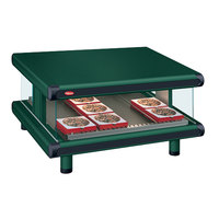 Hatco GR2SDS-60 Hunter Green Glo-Ray Designer 60 inch Slanted Single Shelf Merchandiser - 120V