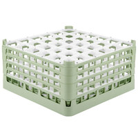 Vollrath 52717 Signature Full-Size Light Green 36-Compartment 8 1/2 inch XX-Tall Glass Rack