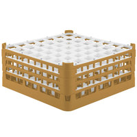 Vollrath 52724 Signature Full-Size Gold 49-Compartment 7 1/8 inch X-Tall Glass Rack